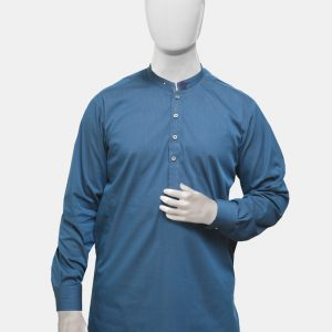 Kurta Pajama Blue Textured