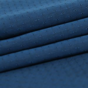 Blue Textured Cotton Fabric