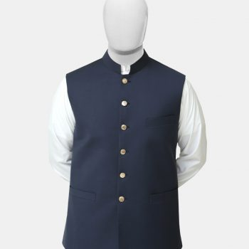 Navy Blue Readymade Waistcoat
