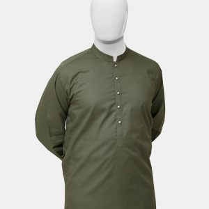 Kurta Pajama Olive Green