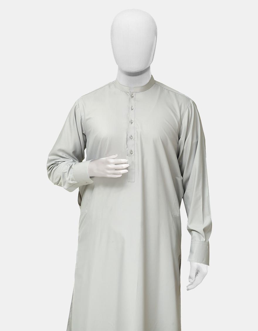 Kameez Shalwar Suit Smoke Gray