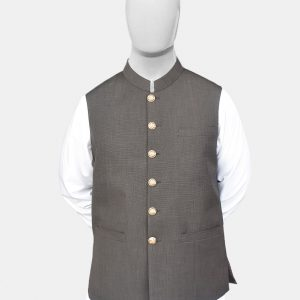 Black Sand Jamawar Waistcoat