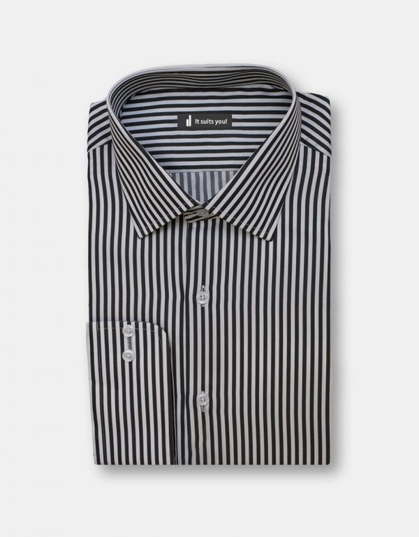 Black Stripes Dress Shirt