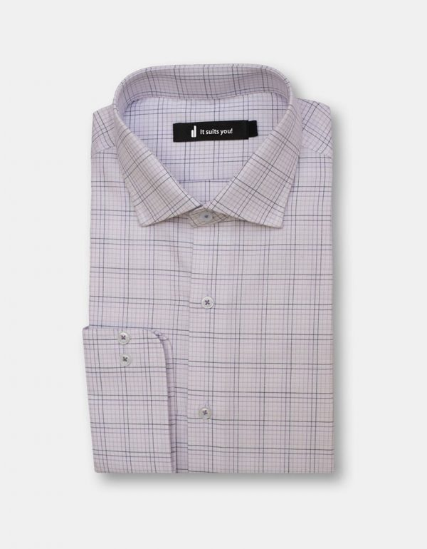 Black Stripes Check Dress Shirt