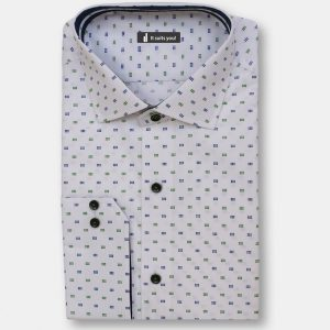 Blue Green Dots Dress Shirt