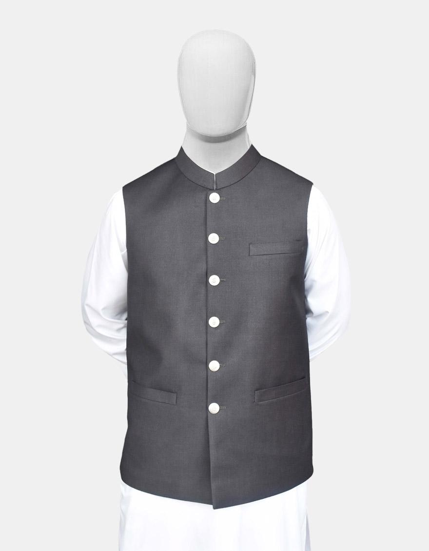 Charcoal Readymade Waistcoat