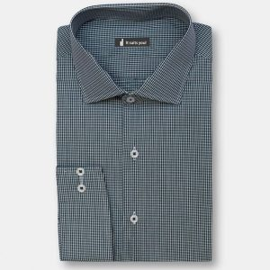 Green Check Dress Shirt