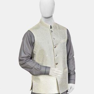 Gray Jamawar Waistcoat