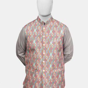Multicolor Jamawar Waistcoat