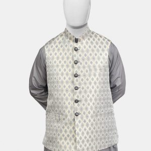 Golden Gray Jamawar Waistcoat