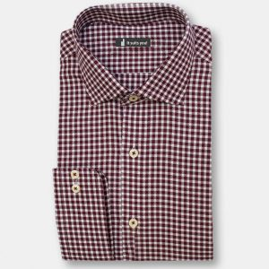 Maroon Check Dress Shirt