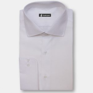 White Texture Dress Shirt