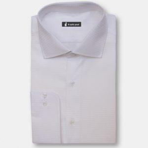 White Texture Dress Shirt